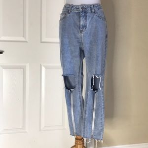 NWT Stay Chic | High Rise Zipper Front Denims 9
